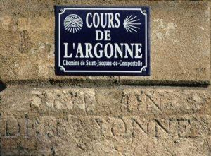 plaque du cours de l'Argonne, Bordeaux
