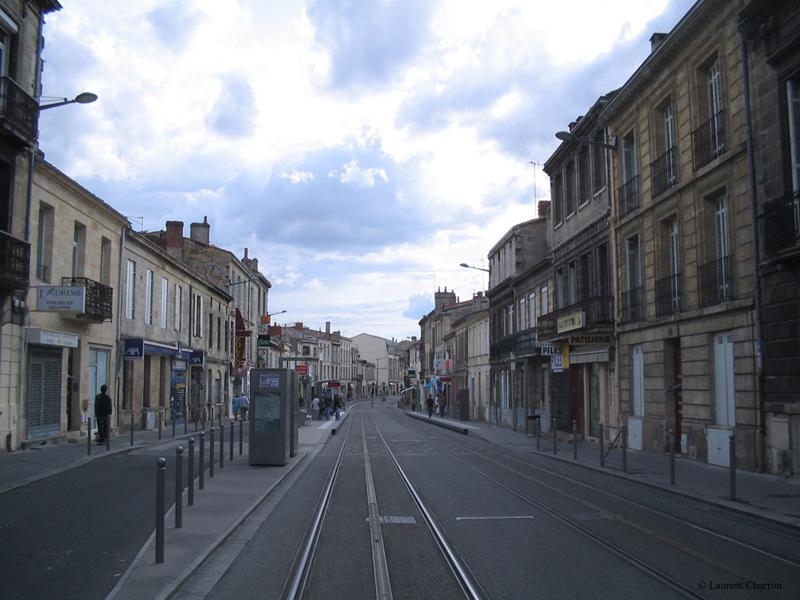 Voies de tram, Cours de l'Argonne, Bordeaux