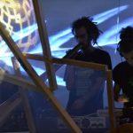 Performance musicale et mapping, étudiants, soirée #1